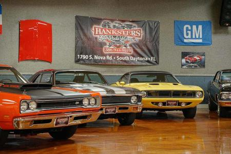 American Muscle Cars on display at Hanksters Hot Rods Showroom in South Daytona Beach