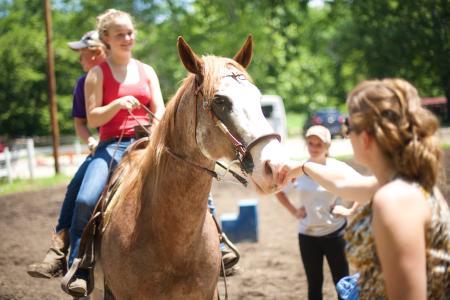 Summer Horseback Riding at Natural Valley Ranch in Brownsburg Indiana