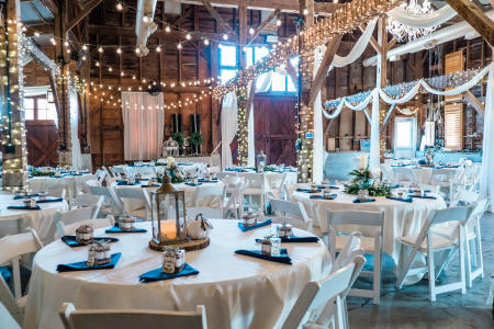Inside the Avon Wedding Barn (Photo courtesy of Nate Crouch Photography)