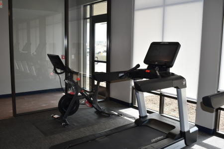 Pelaton and other exercise equipment at Courtyard Indianapolis Plainfield hotel