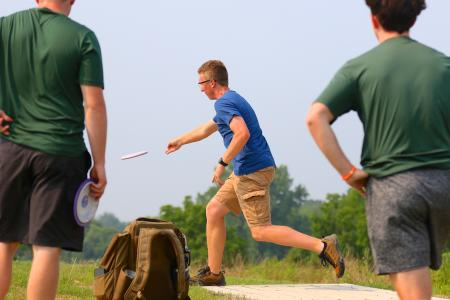 Learn how to play disc golf at W.S. Gibbs Memorial Park in Avon on Oct. 23. (Photo by Brad Poreda)
