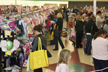 Shop for kids' stuff at the Here We Grow Again Spring Consignment Sale.