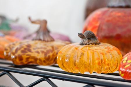 Hot Blown Glass pumpkins