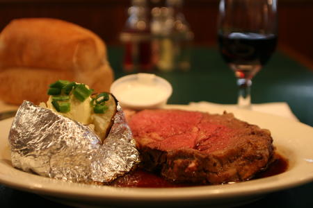 Prime rib at The Coachman is outstanding.