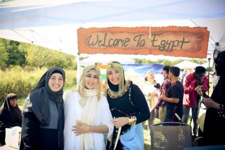 Egypt booth at the International Festival