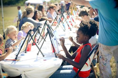 Painting at the International Festival