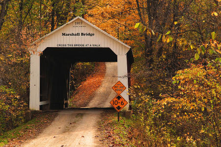 Marshall Bridge in Parke County, Indiana. (Credit: Greg Matchick / coveredbridges.org)
