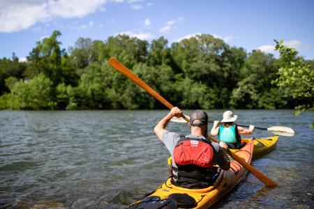 Kayaking at Riverbend