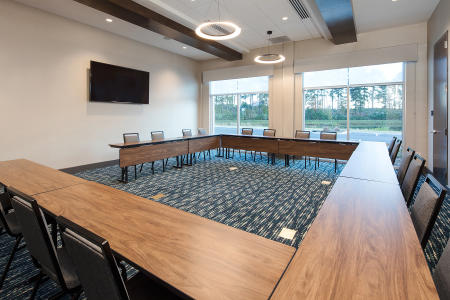 Hampton Inn Smithfield Meeting Room set in conference style