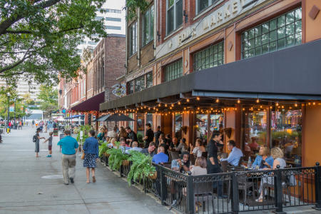 Knoxville's downtown cafes are thriving with a robust range of clientele