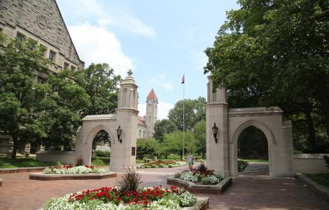 Sample Gates and IU Student Building