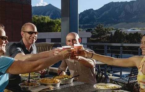 Patio dining in Boulder
