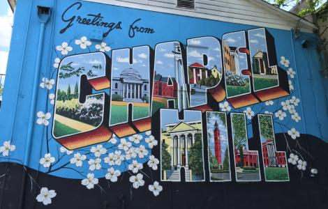 Chapel Hill Post Card Mural