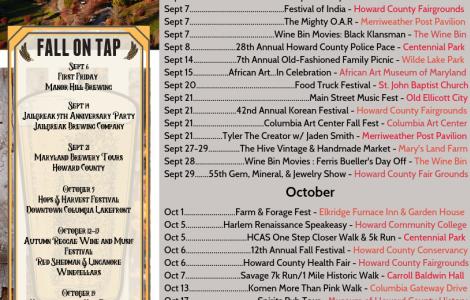 Fall Event Calendar 2019