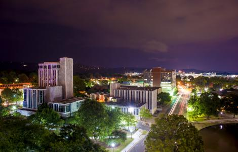 Downtown Huntsville night