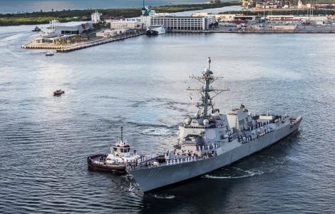 USS Paul Ignatius in turning notch 1