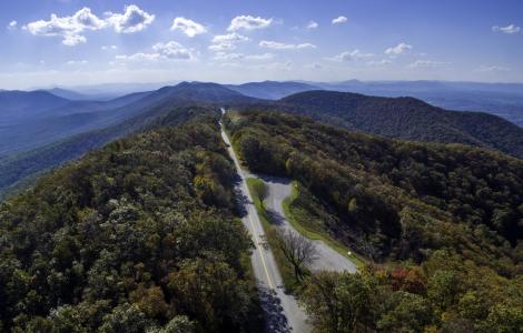Blue Ridge Parkway Aerial View