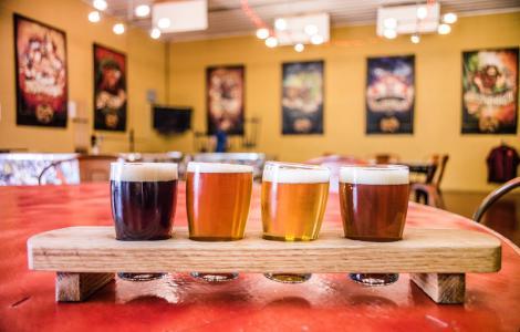 Craft Beer Flight - Chaos Mountain Brewing