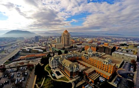 Downtown Roanoke Aerial