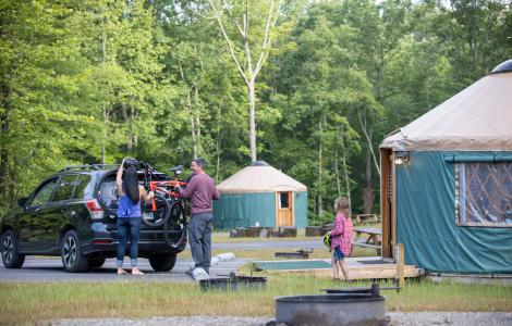Camping in a Yurt - Explore Park