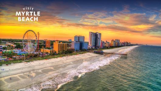 Myrtle Beach Aerial Sunset