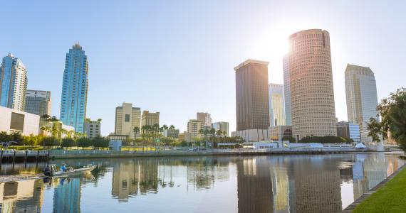 Downtown Tampa Skyline at Dawn