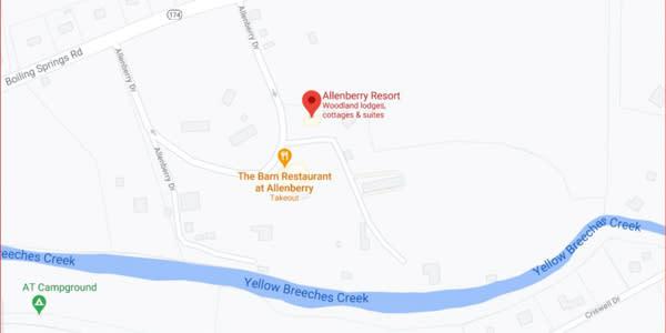 Allenberry Resort Fishing Location Map