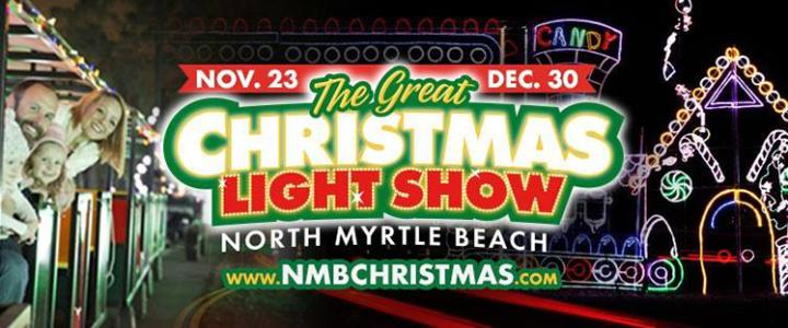 Myrtle Beach Christmas Light Show 2020 North Myrtle Beach Shines During 'The Great Christmas Light Show'