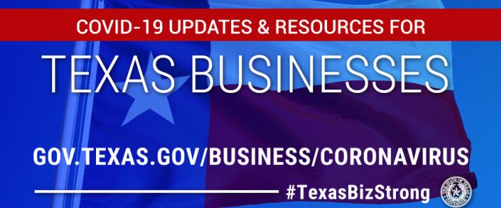 Visit gov.texas.gov/business/coronavirus to gather more information surrounding Governor Abbott's most recent press release