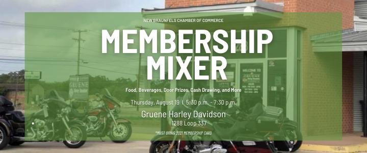 August Membership Mixer