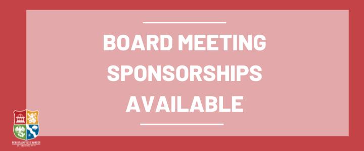 Board Meeting Sponsor