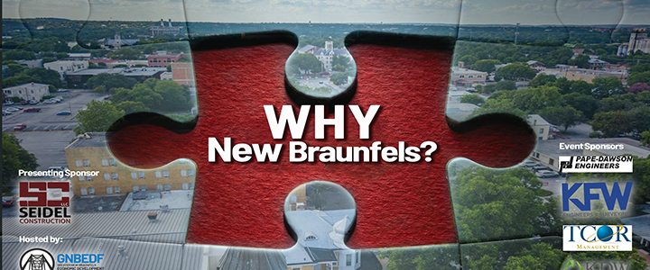 """The sold out event will hear a panel discussion title """"Why New Braunfels"""" and guests will hear first-hand why companies have each chosen New Braunfels to expand their business locations"""