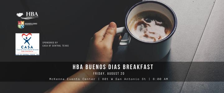 HBA Breakfast August