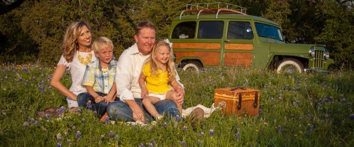 Family w/Wildflowers