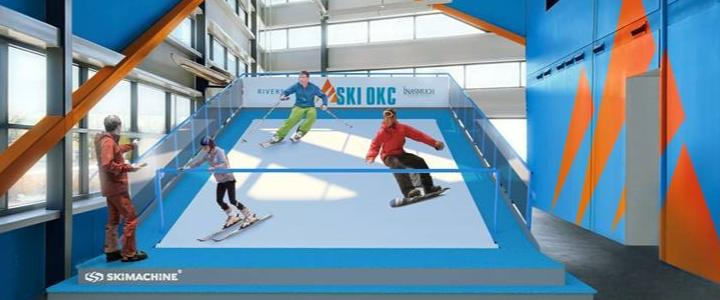 Rendering of the new indoor slope coming to RIVERSPORT OKC.