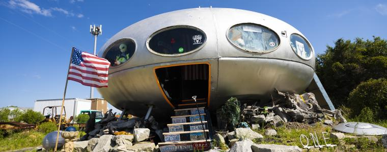 futuro house in frisco alien