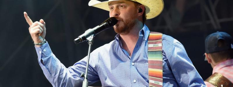 Cody Johnson Playing at a Concert