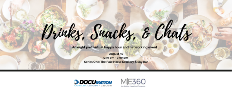 drinks snacks and chats virtual happy hour