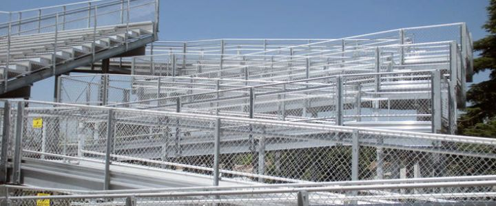 Southern Bleacher wheelchair ramp system