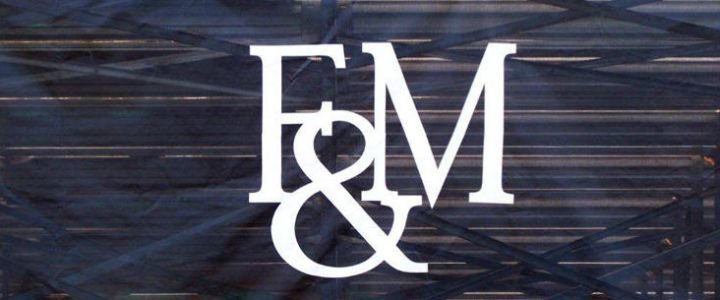 F & M Logo as a stadium graphic from Southern Bleacher Co.