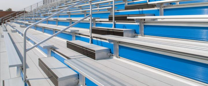 Welded deck bleachers