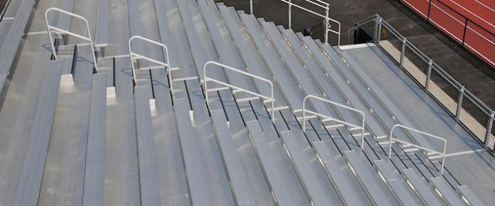 Tongue and groove bleacher system