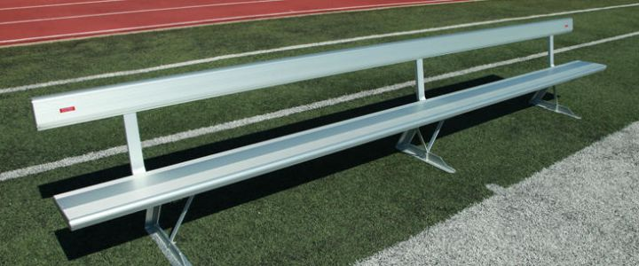 Aluminum bench with backrest