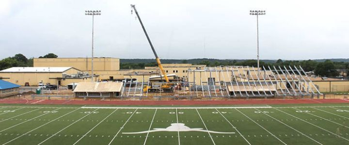 Newton Field Bleacher Construction
