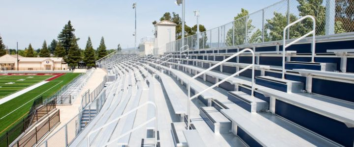 Bleachers from Southern Bleacher Company at Napa Valley High School