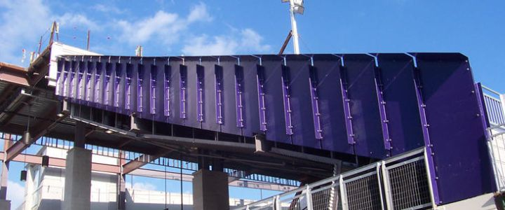 Custom Railings from Southern Bleacher Company at James Madison University's Football Stadium