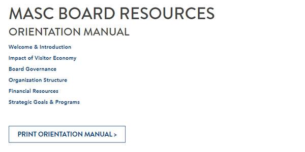 Resources: MASC Board of Directors