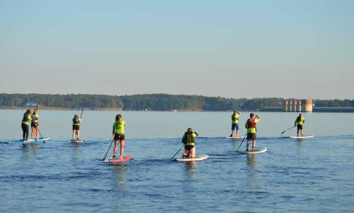 Stand-Up Paddleboarding on Lake Murray (Needs Permission)