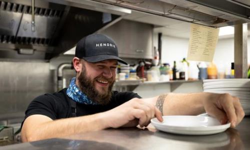 Chef Frank Bradley at Hendrix