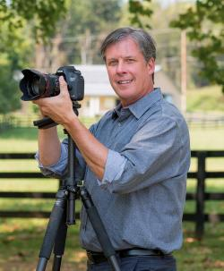 Bruce McCamish with a camera
